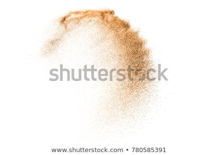 Photo stock: Coloré · vagues · isolé · résumé · brun · orange