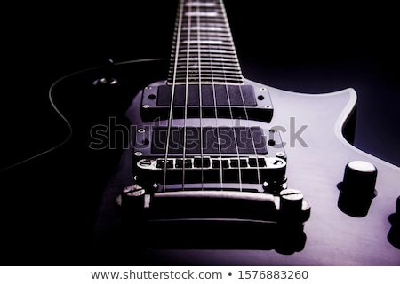 Bas gitar perspektif fotoğraf elektrik Stok fotoğraf © sumners