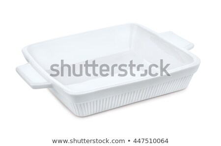 пусто · керамической · прямоугольный · блюдо · изолированный - Сток-фото © digifoodstock