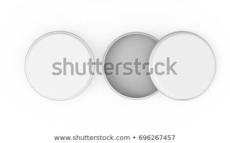 empty white clean closed cream can stock photo © cherezoff
