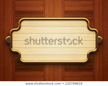 Retângulo madeira parede fundo metal Foto stock © Oakozhan