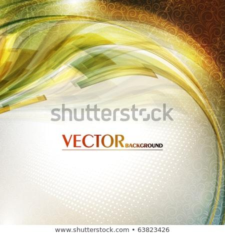 golden circle on green vintage background stock photo © sarts