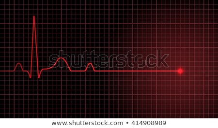 Heart stops Pulsating Illustration Stock photo © alexaldo