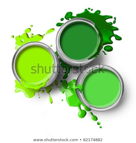 bucket of green paint Stock photo © AnatolyM