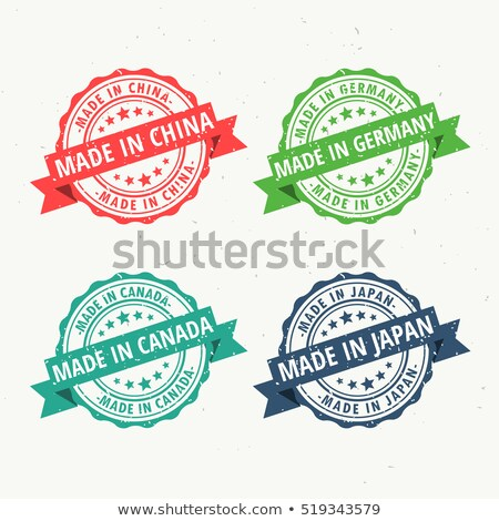 made in china germany canada and japan rubber stamps set stock photo © sarts