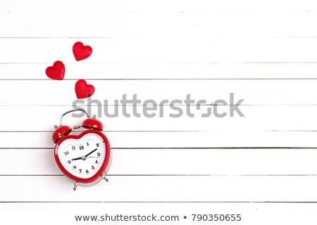 réveil · 14 · amour · saint · valentin · horloge · fond - photo stock © adrenalina