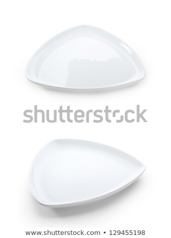 Triángulo blanco placa coupe cena Foto stock © Digifoodstock