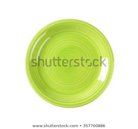 Witte coupe diner plaat vorm schone Stockfoto © Digifoodstock