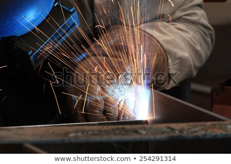 Stock photo: welding with mig-mag method