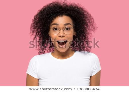 Incroyable femme verres regarder caméra Photo stock © deandrobot