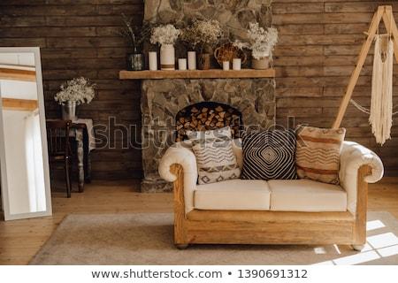 дома · икона · фотография · изометрический · коттедж · недвижимости - Сток-фото © bluering