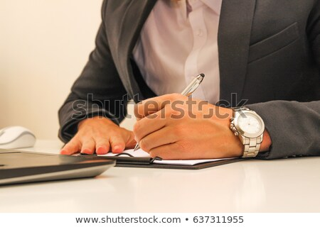 Business man with a stamp stock photo © andreasberheide