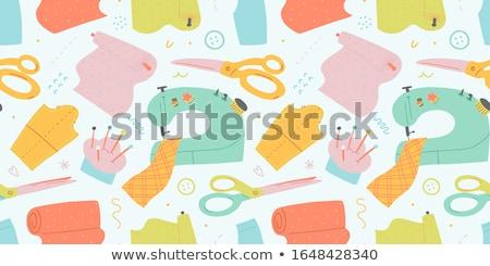 de · costura · ferramentas · vetor · ícones · conjunto - foto stock © vectorikart