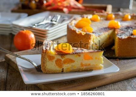 сметана свежие мандарин чаши продовольствие Сток-фото © Digifoodstock