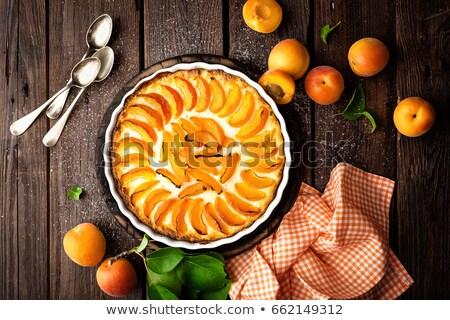 абрикос торт пирог свежие плодов чизкейк Сток-фото © yelenayemchuk