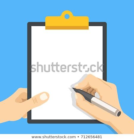 Ceruza vágólap levélpapír copy space üzlet projekt Stock fotó © stevanovicigor