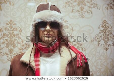 Storefront boutique mannequin, male figure portrait Stock photo © stevanovicigor