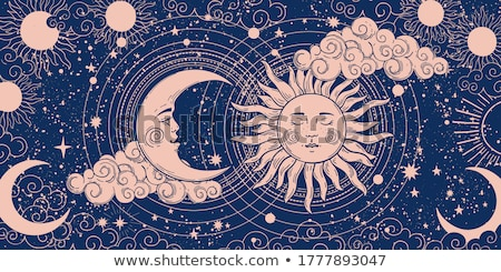 mystical arts   vector vintage illustration stock photo © decorwithme