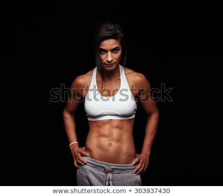 Portrait of female athlete with hands on hip Stock photo © wavebreak_media