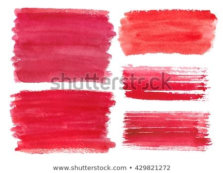 Acquerello grunge rosso macchia mano verniciato Foto d'archivio © Sonya_illustrations