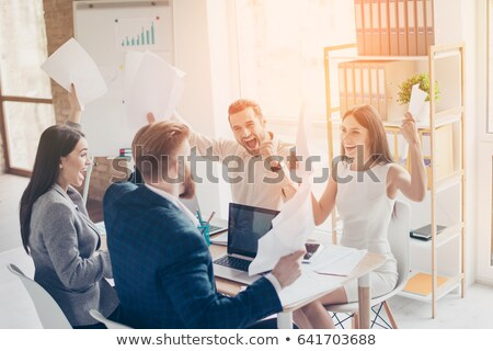 Colleagues working out their fortunes Stock photo © IS2