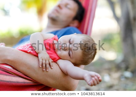 Father And Daughter Sleeping In Hammock Stock photo © IS2