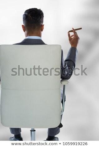 Férfi ül korlát szín Európa felnőtt Stock fotó © IS2