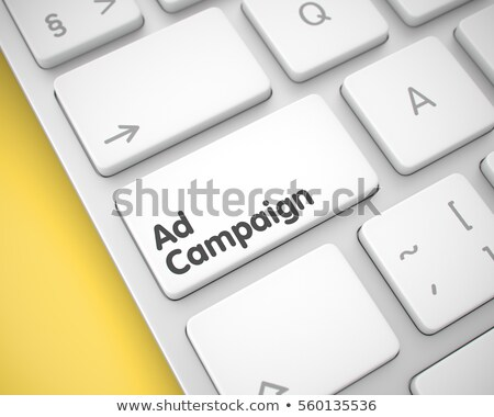 Stock photo: Ad Campaign Keypad. 3D.