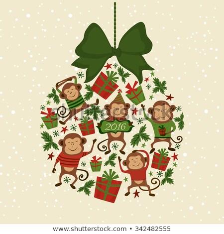 christmas · gelukkig · nieuwjaar · winter · iconen · collectie · ingesteld - stockfoto © popaukropa