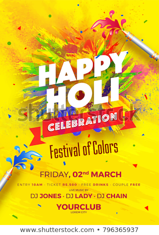 happy holi party invitation template flyer Stock photo © SArts