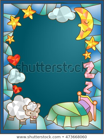stained glass bed sheep stock photo © lenm