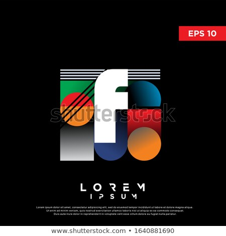 Letter F on cover of retro books. Concept of template elements a Stock photo © popaukropa