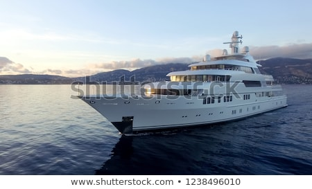 Yacht and mountain Stock photo © Givaga