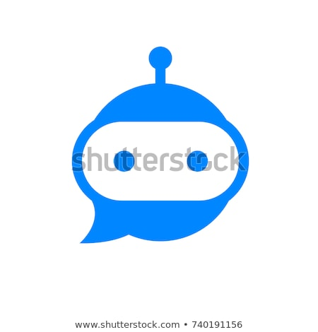 Chatbot icon or logo with head and bubble speech Stock photo © ussr