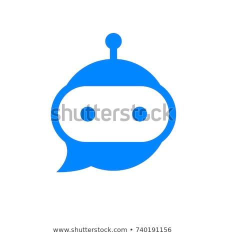 vivere · chat · fumetto · icona · internet · design - foto d'archivio © ussr