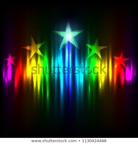 радуга Голливуд звезды вверх цветами свет Сток-фото © romvo