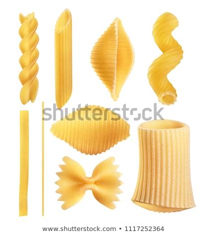 Essiccati nastro pasta finestra giallo spaghetti Foto d'archivio © Digifoodstock