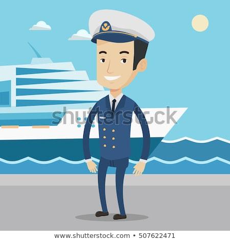 船乗り · 白 · ユニフォーム · 実例 · 作業 · 背景 - ストックフォト © rastudio