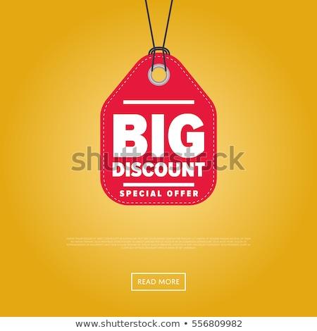 árengedmény · eladó · szalag · ajándékdobozok · csíkos · kiskereskedelem - stock fotó © studioworkstock