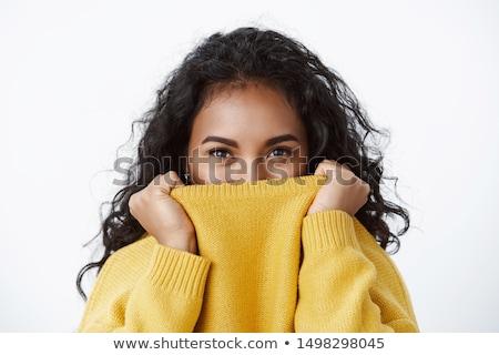 Hülye nő gyönyörű fiatal ázsiai készít Stock fotó © hsfelix