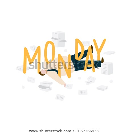 Businessman lying on floor with scattered papers Stock photo © IS2