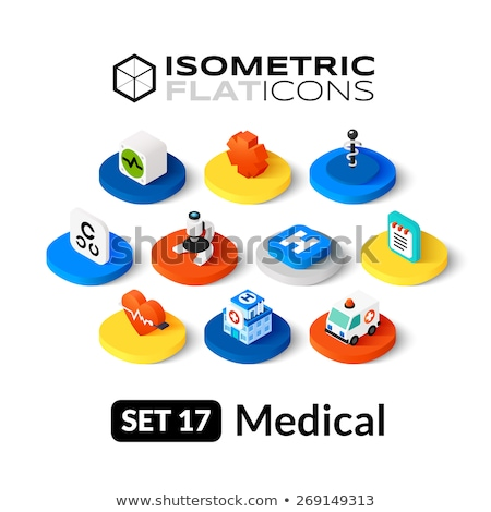 Star of life isometric icon, isolated on color background Stock photo © sidmay
