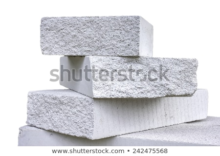 építész · agyag · téglák · izolált · fehér · férfi - stock fotó © elnur