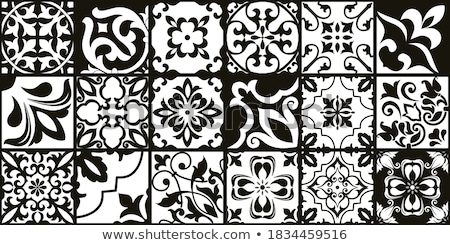 Stock photo: Vintage ceramic tiles