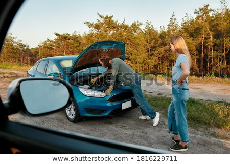 Jong meisje ongeval illustratie meisje medische kind Stockfoto © bluering