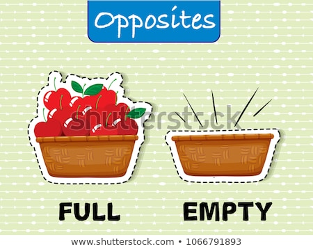 opposite english words on green background stock photo © bluering