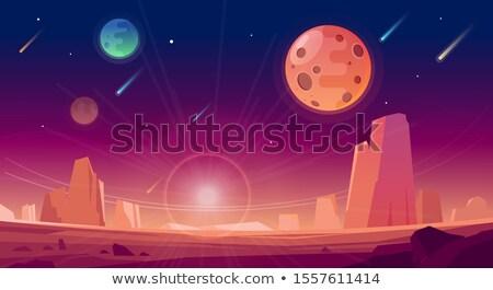 пространстве · ракета · вектора · искусства · иллюстрация · знак - Сток-фото © bluering