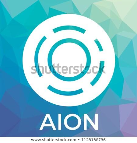 Aion Crypto Currency - Vector Sign Icon. Stock photo © tashatuvango