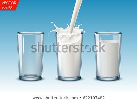 szett · vektor · tejturmix · izolált · fehér · tojás - stock fotó © pakete