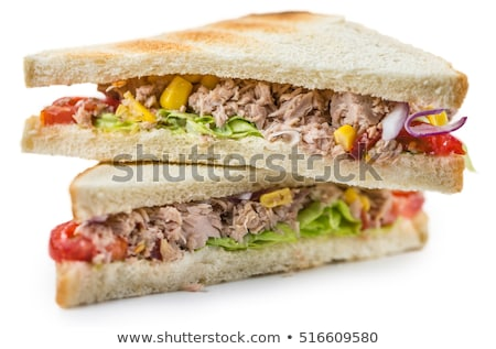 Stock photo: sandwich with vegetable and tuna